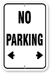 1np001 basic no parking sign