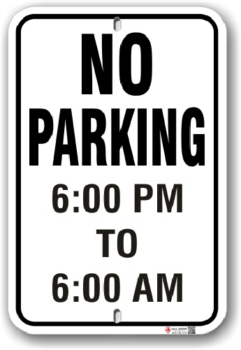 1np002 no parking with time limit parking sign by all sign