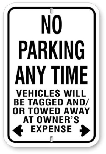 1np007 no parking any time