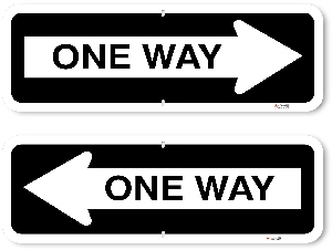 1OWR04 Aluminum One Way Sign
