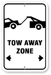 1ta001 no parking tow away zone