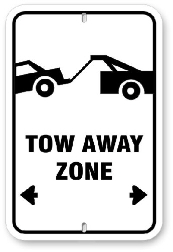 1TA001 No Parking Tow Away Parking Sign