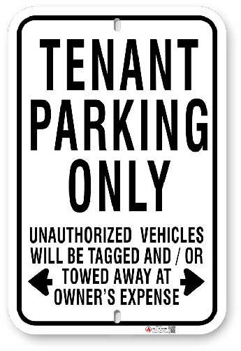 1TP003 Tenant Parking Only sign