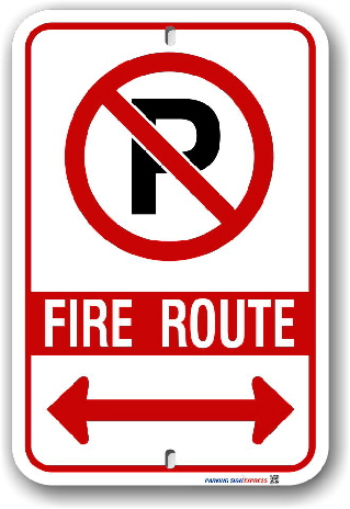 2fr007 Fire Route Sign for the City of London By-Law PS-113