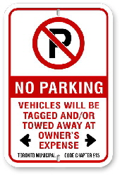 2np001 no parking with red circle p code 915