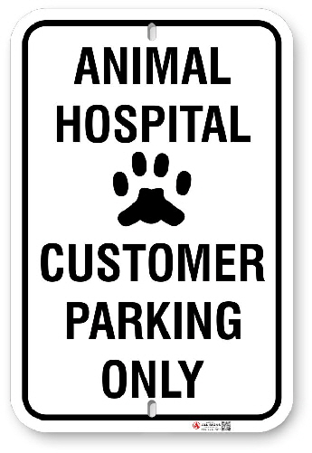 ahcp01 customer parking only for animal hospital made by all signs co